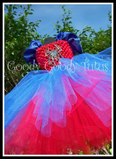 SHE'S AMAZING Spiderman Inspired Tutu Dress - small 12/18mo. via Etsy