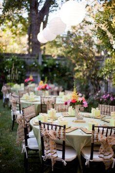 OUTDOOR WEDDING RECEPTIONS | Garden-Party-Wedding-Reception