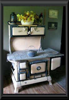 Hoosier Hollow Prims Antique Wood Cook Stove Antique Kitchen Stovesantique