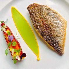 Smoked carrot and sea bream dish by @chefjasonhoward. ・・・ #armyofchefs #food #foodie #foodart #foodpic #foodphoto #foodphotography #foodphotographer #instafood #instagourmet #gastrogram #gourmet #gastronomy #foodporn #foodism #foodgasm #plating #f52grams #vsco_food #caribean #backtoblack #theartofplating #wemakefoodgreatagain