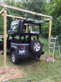 For several reasons, not the least of which is a lack of room in my garage, I can't install a hoist for my hardtop. Jeep Wrangler Unlimited, Jeep Wrangler Hard Top, Jeep Hard Top, Jeep Wrangler Lifted, Jeep Cj7, Jeep Jeep, Lifted Jeeps, Jeep Wranglers, Jeep Wrangler Accessories