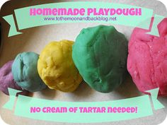 To the Moon and Back: Homemade Playdough (No Cream of Tartar Needed!)