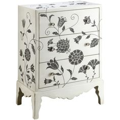 stenciled flowers