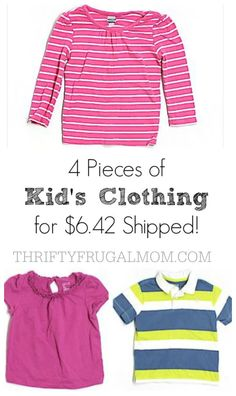 ThredUp: 4 Pieces of Kid's Clothing for $6.42 Shipped! A great and easy way to save on clothing!