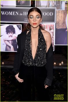 Sarah Hyland at Vanity Fair's Women in Hollywood Event | Sarah is wearing Giuseppe Zanotti shoes and a Paule Ka blazer
