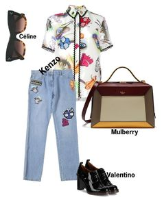 """#fashion #minifashionicon"" by minifashionicon on Polyvore featuring Valentino, Kenzo, CÉLINE and Mulberry"