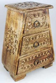 Celtic Wooden Drawer Chest Celtic Jewelry Box