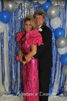 Love this idea of an 80's Prom party!