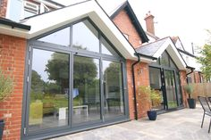 Solarlux SL81 bifolding doors and gable window frames Wokingham, Berkshire