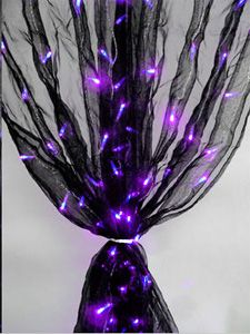 Girls Room - Check out the deal on Black Organza Curtain with 200 Purple LED Bulbs AC Powered at Battery Operated Candles; this is not available any longer