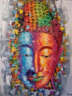 Malerei, Ölgemälde von Buddha, Buddha Buddha Gemälde von Kampon