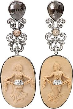 BOCHIC Carved Mammoth Cameo Earrings http://www.shopstyle.com/action/loadRetailerProductPage?id=453785134&pid=uid1209-1151453-20
