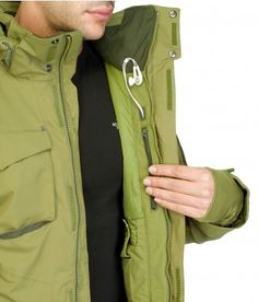 The North Face Veste Hardpack pour hommes G.I. GREEN