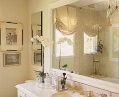 Tiny cloakroom ideas small curtains bathroom windows small bathroom window treatment ideas from bathroom window treatment ideas , image source: www. Window Curtain Designs, Small Window Curtains, Bathroom Window Curtains, Bathroom Window Treatments, Bathroom Windows, Curtain Styles, Shower Window, Modern Room, Modern Bathroom