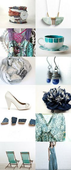 Vacations Ocean Blues by Hailey Rose on Etsy  by  http://www.etsy.com/shop/Brydferth