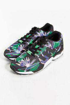 c3c7518b5274df adidas Originals ZX Flux Floral Print Sneaker