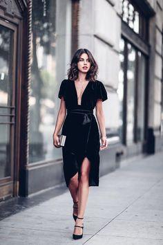 velvet wrap party dress viva luxury  http://thevivaluxury.com/2016/11/velvet-wonderland/
