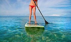 Torch Grove Campground, on Torch Lake in Northern Michigan. They offer stand-up paddle board lessons!