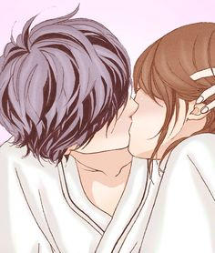 Image about anime girl cute in anime/manga ; Couple Manga, Anime Love Couple, Cute Anime Couples, Futaba Y Kou, Miraculous, Puuung Love Is, Cute Chibi Couple, Manga Anime, Anime Art