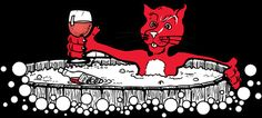 Red Cat..for the hot tubber in all of us!