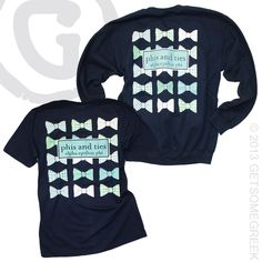 ALPHA EPSILON PHI CUSTOM GROUP ORDER ON BOW TIE SHIRTS AND SWEATSHIRTS!! GREAT IDEA TO MAKE YOUR DESIGN IN TWO STYLES SO YOU CAN WEAR IT ALL YEAR! GETSOMEGREEK!