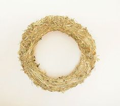 Hay wreath base  Wreath form  Natural  Eco friendly by MiLiCrafts