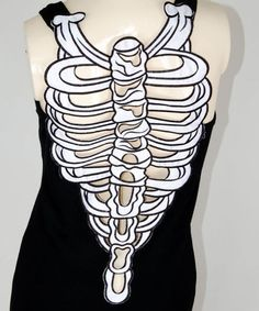 Kind of sexy cool for Halloween or clubbing (Sexy Skeleton Ribcage Punk Goth Emo Tank Top Singlet Dress M Diesel Punk, Girly Outfits, Cute Outfits, Fashion Outfits, Cyberpunk, Rockabilly, Grunge, Gothic, Hipster