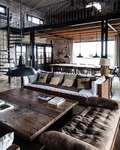 Snuggling in an industrial designed living  #lartquitecte #interior #industrial