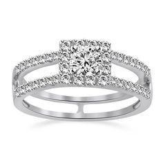 0.90CT ROUND VVS1 DIAMONDPLATINUM PLATED HALO VINTAGE STYLE ENGAGEMENT RING #Jpjewels8 #Engagement