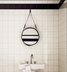 Wall tiles in black and white.