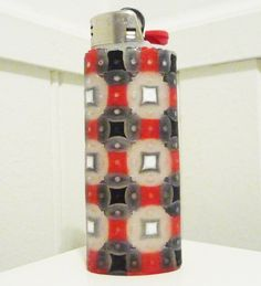 Complex Perler Bead LIGHTER CASE. $10.00, via Etsy.