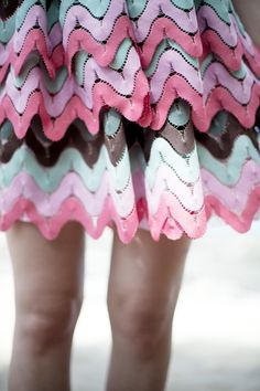 Rick rack details. #pastel #dress