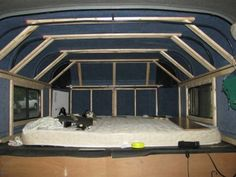 Horse Trailer Conversion Ideas | Photo 2 - framing out the sleeping area in the gooseneck nose