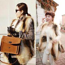 Couro das mulheres de luxo Fur Vest inverno raposa pele macia colete quente 6 8 10 12 14(China (Mainland))