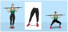 20 Simple Exercises with a Broom Stick to Strengthen Buttocks, Abdomen & Legs Best Workout Routine, Bar Workout, Pilates Workout, Pilates Mat, Fit Sticks, Squat, Volleyball Tips, Sport Diet, Broom Handle