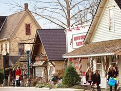 Nashville, Indiana: Check out Christmas in Brown County for the weekends after Thanksgiving. One of Midwest Living's 25 best places to celebrate!