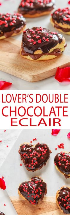 Lover's Double Chocolate Eclairs + Video | The Whimsical Wife