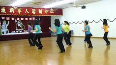 Footloose - Line Dance (Dance & Teach) -bahaha the best part about this is the Chinese characters on the back wall -sigh