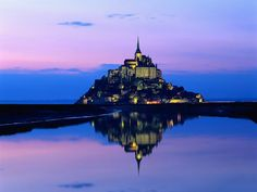 Mont Saint Michel, France in Normandy. Compared to city of God/heaven