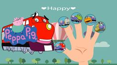 Pig Trains Family \ Rhymes Lyrics a. Finger Family, Family Guy, Rhymes Lyrics, Peppa Pig, Nursery Rhymes, Trains, Happy, Youtube, Fictional Characters
