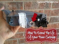 How to make your toner cartridges last twice as long!!  Really helps when you're printing out a lot of online homeschool resources!