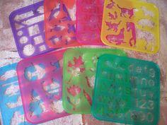 vintage children's Tupperware stencils