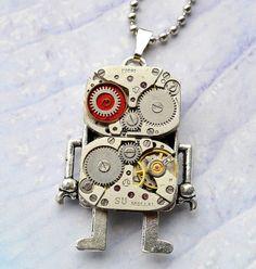 MM - ART creative design studio: robot necklases