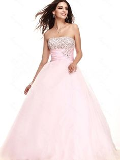 Adorable Ball Gown Strapless Neckline Floor Length Prom Dress