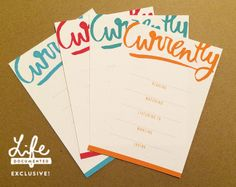 Free Currently Journal Cards from Life Documented Manila {on Facebook}