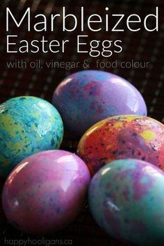 Marble Easter eggs Cool Easter Eggs, Easter Egg Dye, Coloring Easter Eggs, Hoppy Easter, Easter Bunny, Egg Coloring, Easter Stuff, Making Easter Eggs, Easter Art