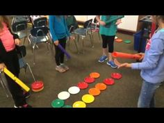 Dot Day Boomwhacker Composition -2 Me: could place color coordinated manips on large hearts to designate rhythm