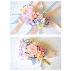 不器用プレ花嫁さんに朗報!お花いっぱいのブレスレット♡『リストレット』と呼ばれるフラワーアイテムのとっても簡単な作り方をご紹介*
