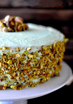 Easy Pistachio Cake Recipe (A Tribute to Aunt Lou) Pistachio Pudding Cake, Pistachio Recipes, Coconut Recipes, Peanut Butter Cup Cookies, Bean Cakes, Spring Desserts, Salty Cake, Round Cake Pans, Let Them Eat Cake