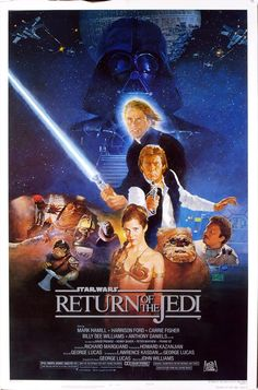 """Official theater poster for """"Star Wars: Episode VI - Return of the Jedi"""" - 1983."""